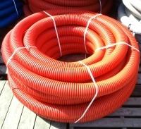Труба защитная двустенная Nashorn d160мм красная
