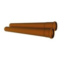 Труба канализационная ПВХ 110x3,2x4000 мм