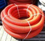 Труба защитная двустенная Nashorn d63мм красная