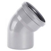 Отвод ПВХ для внутренней канализации 110x45 мм